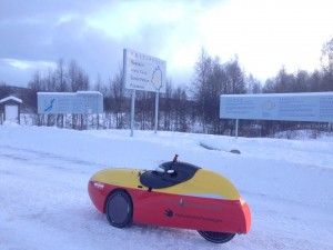 Urpo Taskinens velomobil i Övertorneå