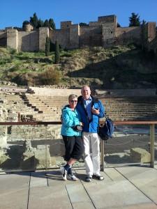 Ingrid och Sölve Klockare, vinter i Malaga. Foto Privat
