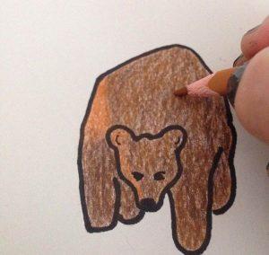 Meri har själv illustrerat boken. Foto Privat