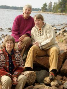 Märta, Karin och Linnea Nylund. Foto Privat
