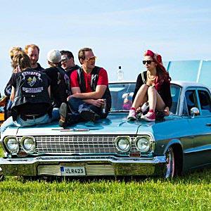 Myggfångar-VM innehåller även Classic Car Show. Foto Privat