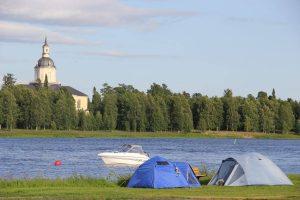 Haparanda camping ligger precis intill Torneälv. Foto Privat