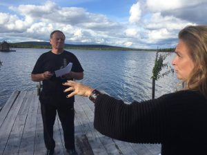 Bengt Niska får koreografi av Justine Kirk Foto SVT