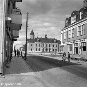1950 Köpmangatan och Stadshotellet Foto Haparanda stadsarkiv