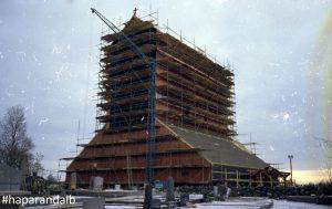 1967. Nya kyrkan byggs. Foto Haparanda stadsarkiv
